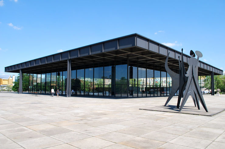 Exterior of the Neue Nationalgalerie in Berlin