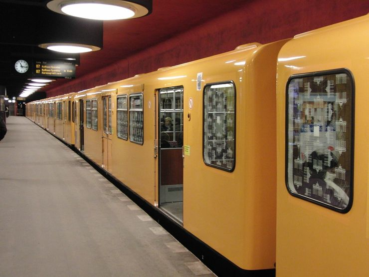 U-Bahn Train inside station