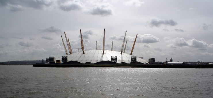 The O2 Arena is a very distinctive London Landmark
