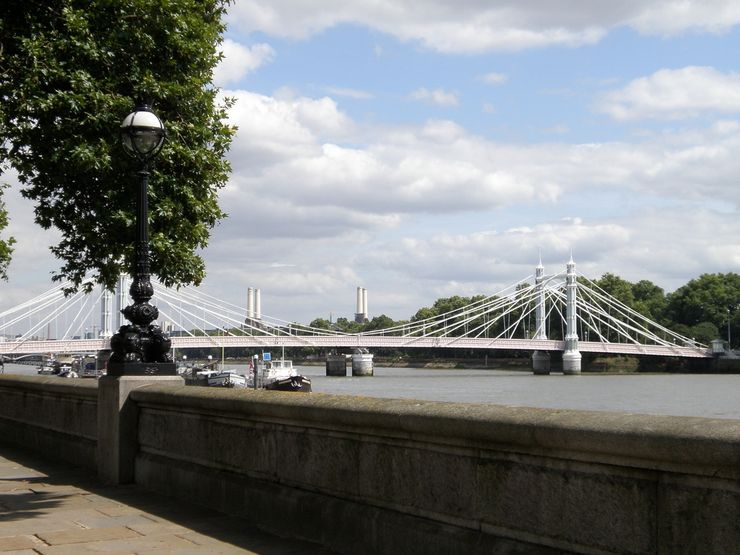 The Historic Albert Bridge Between Chelsea and Battersea