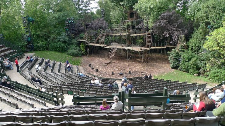 The Open Air Theatre st Regents Park in London