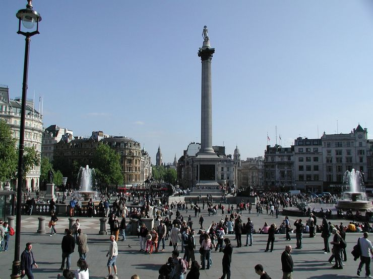 Nelson's Tower in Trafalgar Square