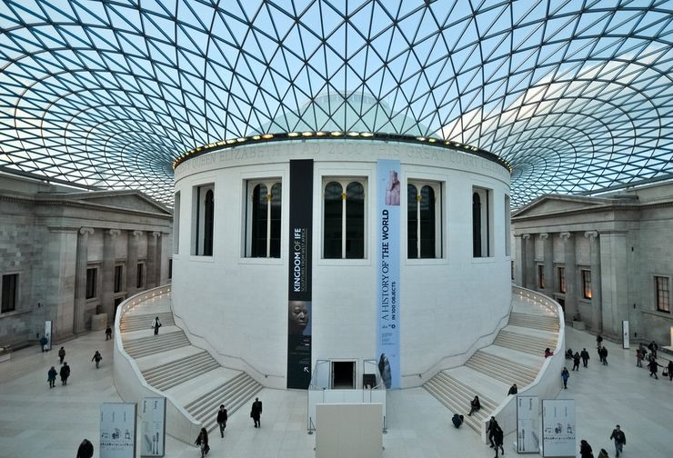 Central Courtyard Inside the British Museum