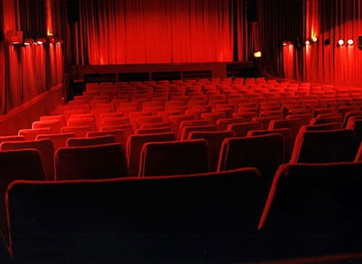 Seating inside the Prince Charles Cinema