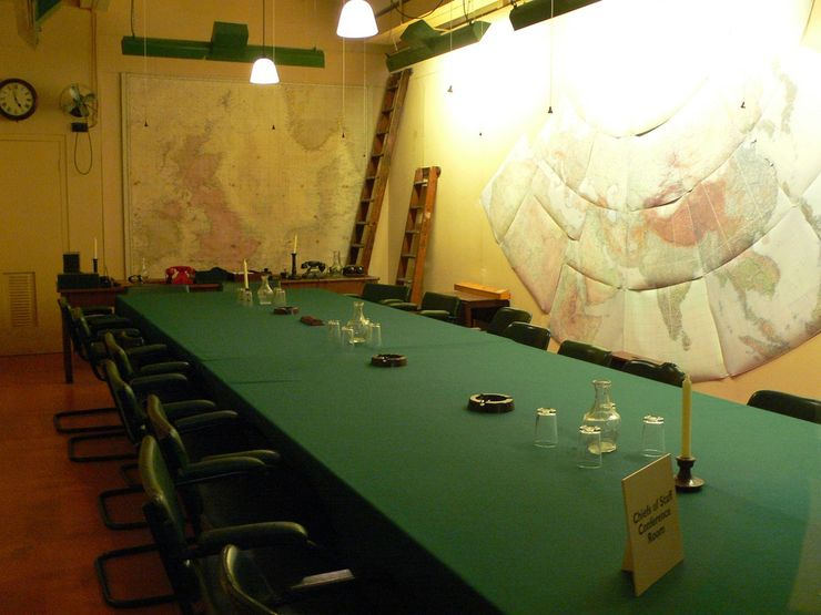 Chiefs of Staff Conference Room in the Churchill War Rooms Museum