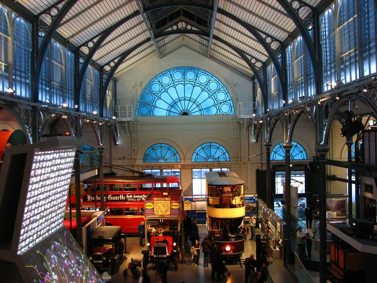 Displays inside the London Transport Museum