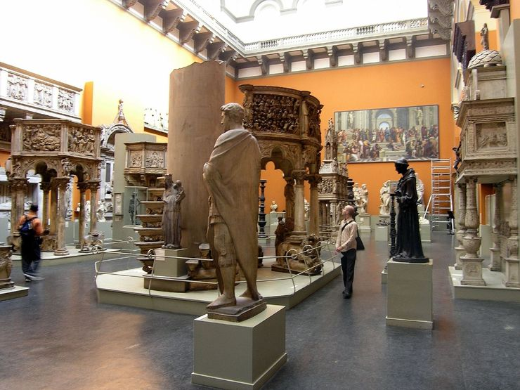 Inside one of the 145 Galleries of the Victoria and Albert Museum