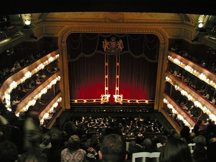 View from balcony inside the Royal Opera House
