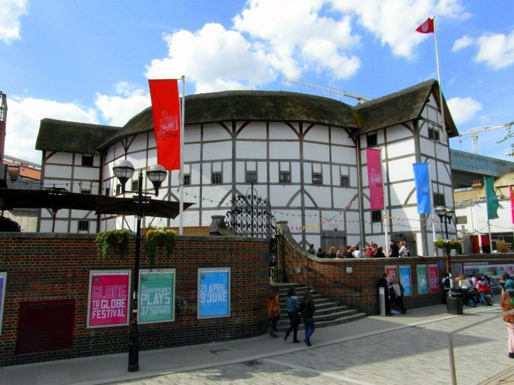 Entrance to Shakespeare's Globe Theatre