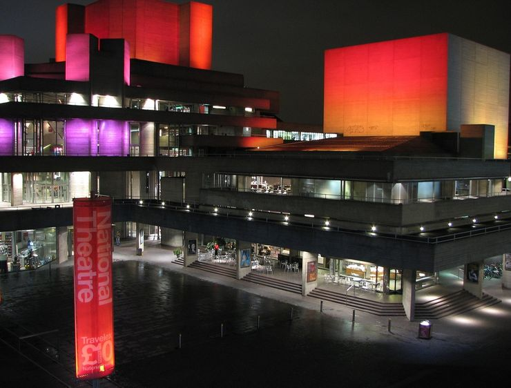 Exterior of the National Theatre at Night