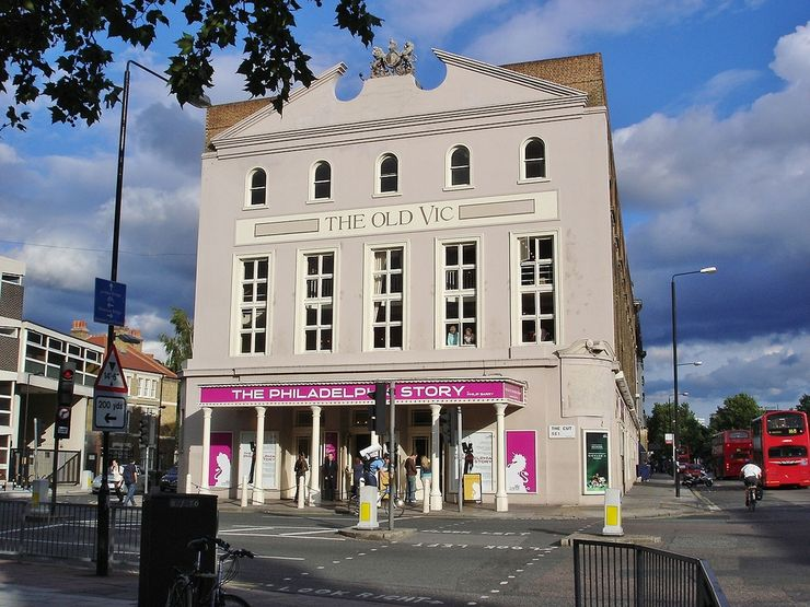 Front facade of the Old Vic Theatre