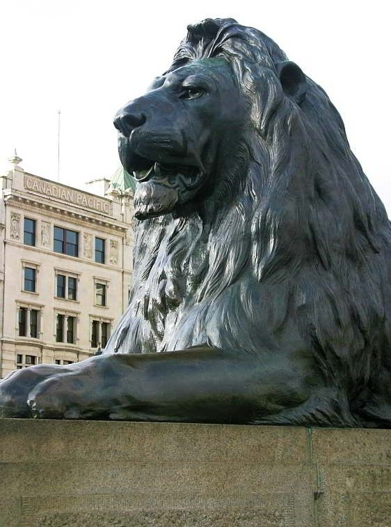 One of four Lion Statues watching over Trafalger Square