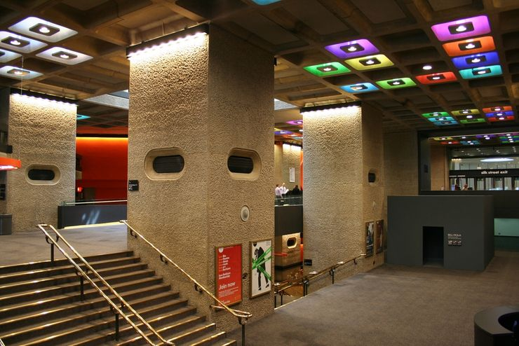 One of many foyers inside Barbican Centre