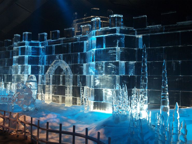 Ice Sculpture during the annual Winter Wonderland in Hyde Park