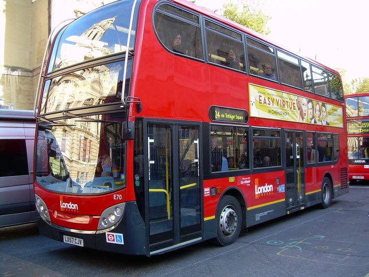 One of London's newer double decker buses