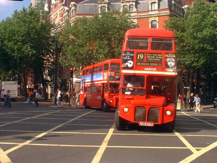 On some routes you can still enjoy a ride on one of the old Routemaster double decker buses