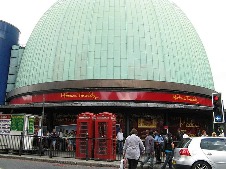 Entrance to Madame Tussauds Wax Museum in London