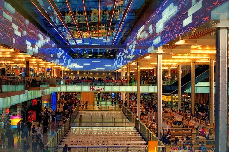 Interior of Westfield Stratford City Shopping Centre
