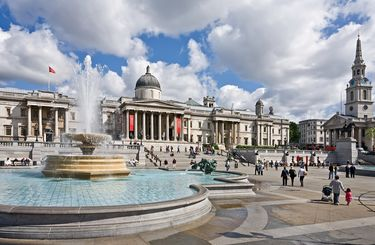 Trafalgar Square and the National Gallery