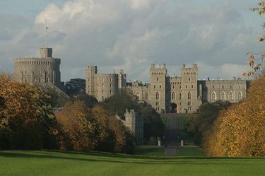 The long approach to Windsor Castle