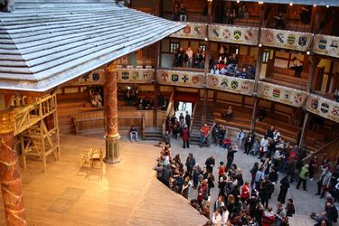 Interior of Shakespeare's Globe Theatre in London