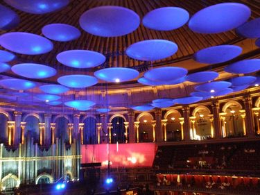 Inside the Royal Albert Hall during a BBC summer Proms concert