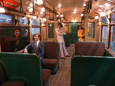 Interior of an old railway car