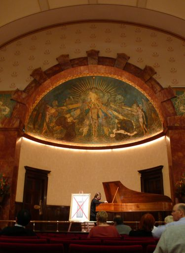 Preparing for a performance inside Wigmore Hall