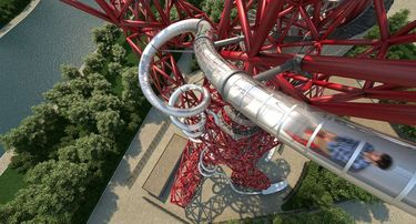 Looking down on the new ArcelorMittal Orbit Slide