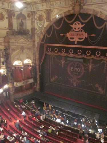 View from balcony inside the London Coliseum