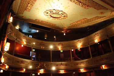 Balconies inside the Old Vic Theatre