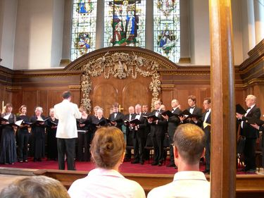 A choir performs at St. James's Church