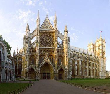 North entrance to the spectacular Westminster Abbey