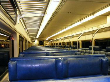 Interior of an AMT commuter train