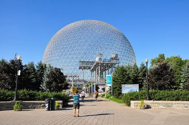 Approaching the entrance to the Montreal Biosphere