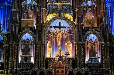 Some of the incrediblily beautiful details inside Montreal's Notre-Dame Basilica