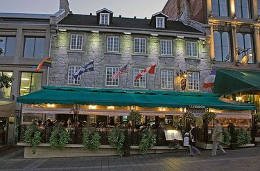 Quaint Architecture And Dining In Old Montreal