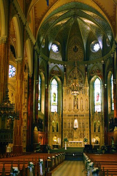 Interior of Saint Patrick's Basilica in Montreal