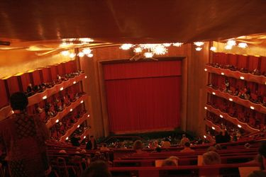 Inside the Metropolitan Opera in New York City
