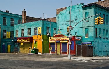 Bright Colors liven an otherwise delapidated neighourhood in the Bronx