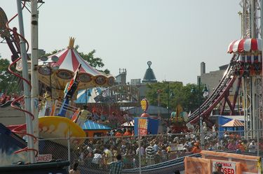 Rides at the new Luna Park Amusement Venue on Coney Island