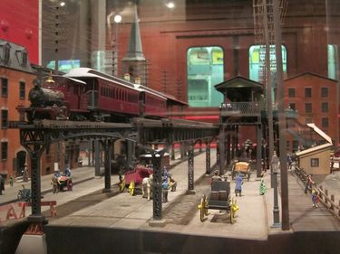 A model depicting what transit was once like in New York City