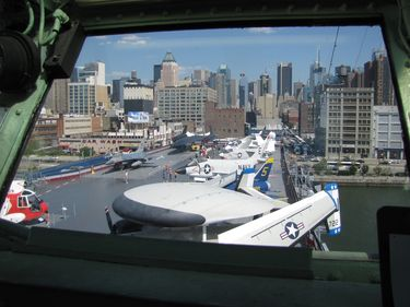 Flight Deck of New York Citys Intrepid Sea Air and Space Museum