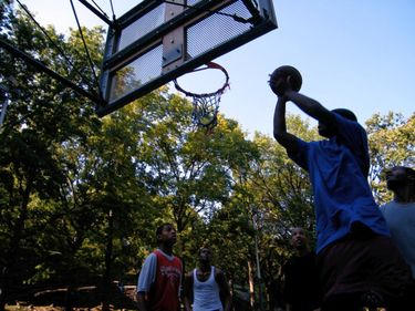 Street Basketball is a Popular Pastime in Harlem