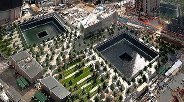 View of the 911 Memorial from above