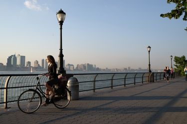 Cycling in Battery Park