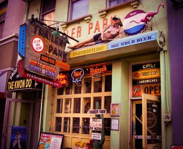 Colorful eclectic bar in the neighbourhood of Chelsea New York