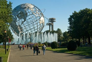 The Unisphere in Flushing Meadows-Corona Park, Queens was the centrepiece of the 1964 World's Fair