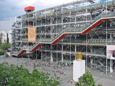 The controversial George Pompidou Centre in Beaubourg