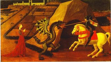 A painting by famous artist Paolo Uccello (1397-1475) - part of the collection on display at the Jacquemart-Andre Museum